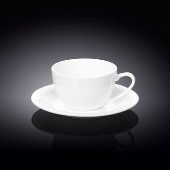 Чашка WILMAX WL-993001/6С (с блюдцем 180 мл//набор 6 шт)