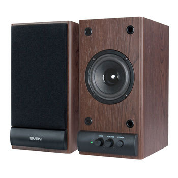 Speakers SVEN SPS-609 Cherry,  2.0 / 2x5W RMS, wooden, 3""