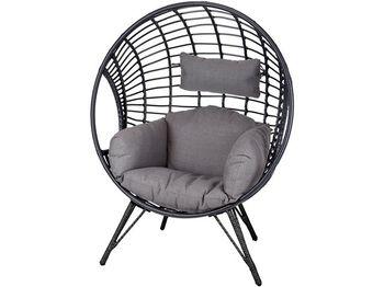 """Кресло """"Шар"""" с подушкой H132cm, черный"""