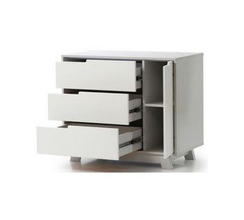 купить Комод Veres Manhattan с ящиками (белый/серый) в Кишинёве