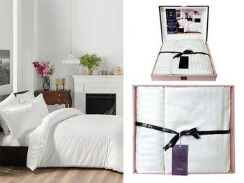 Постельное белье 2сп Newhome Vip Satin Hotel, белый, 100%