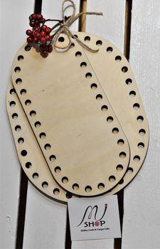 Formă din lemn oval, 20x9 cm