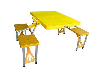 Стол раскладной+4стула 85X65X67cm, пластик, чемодан