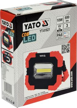 купить СВЕТОДИОДНЫЙ ФОНАРЬ ПОРТАТИВНЫЙ YATO  LED  10W  680LM С Магнитом в Кишинёве