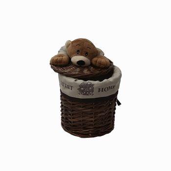 купить Корзина с медвежонком 180x180 мм, коричневый в Кишинёве