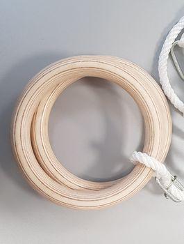 Гимнастические кольца Spartan 1163 d=24 см, l=160 см, 80 кг (3719) (под заказ)