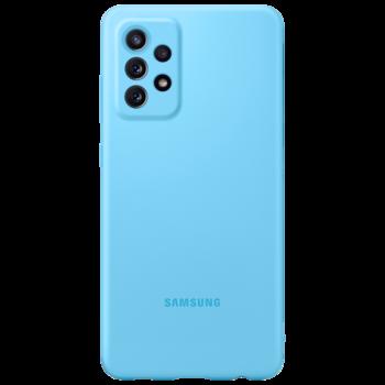 купить Чехол для моб.устройства Samsung Galaxy A72 EF-PA725, Silicone Blue в Кишинёве