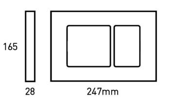 Кнопка для инсталляция подвесного WC