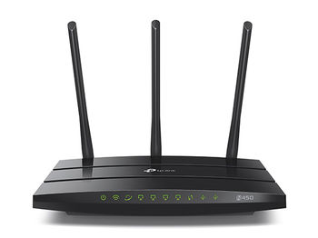 TP-LINK TL-WR942N  N450 Wireless Router, Atheros, 3T3R, 450Mbps on 2.4GHz, 802.11n/b/g, 1 WAN + 4 LAN, with 3 fixed antennas, 2 x USB2.0, support 3G/4G modem, Printer Sharing, Storage Sharing, FTP Server