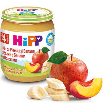 купить Hipp пюре яблоки, персик и банан 4+мес. 125г в Кишинёве