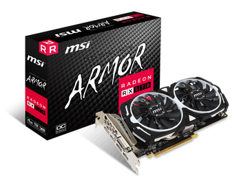 купить MSI Radeon RX 580 ARMOR 8G OC /  8GB GDDR5 256Bit 1366/8000Mhz, DL-DVI-D, 2x HDMI, 2x DisplayPort, Dual fan - ARMOR 2X thermal design (Zero Frozr/Airflow Control Technology), TORX FAN, Gaming App, Retail в Кишинёве