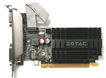 ZOTAC GeForce GT710 Zone Edition 2GB DDR3, 64bit, 954/1600Mhz, Passive Cooling, HDCP, DVI, HDMI, VGA, 2x Low profile bracket included, Lite Pack