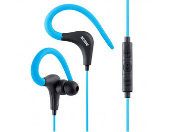 Acme HE17B Sports & action earphones with microphone & in-line control, Blue, 20Hz-20KHz, 94dB, 16 Ohm, 1.2m (casti cu microfon/наушники с микрофоном)