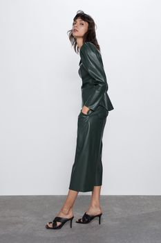 Блуза ZARA Темно зеленый 2969/069/529