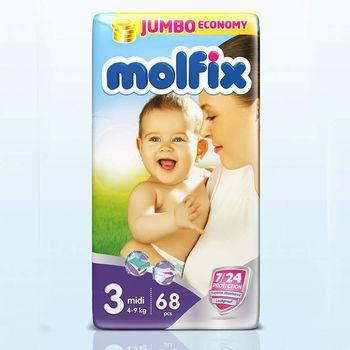 купить Molfix подгузники Jumbo 3, 4-9 кг, 68 шт в Кишинёве