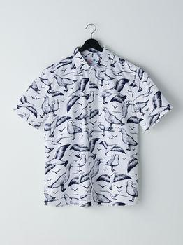 Рубашка CROPP Белый с принтом