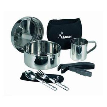 купить Набор посуды нерж Laken SS Cooking Set17 cm, neoprene cover, cup, 8817FN в Кишинёве