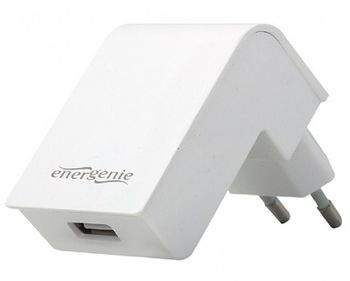 Gembird EG-UC2A-02, Universal AC USB charging adapter, 5 V / 2.1 A, White