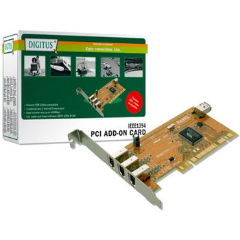DIGITUS Firewire  PCI -Express card, IEEE1394, 4 port
