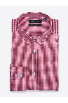 Рубашка TOP SECRET Красный в клетку SKL2167CE