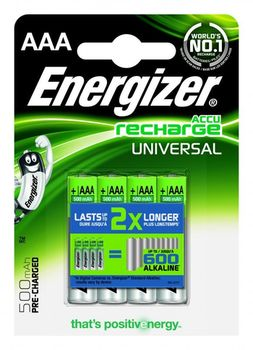 Energizer Rechargeable Universal AAA 500mAh, FSB4 (blister)