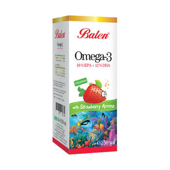 cumpără Balen Omega 3 cu aromă de căpșuni 150 ml în Chișinău