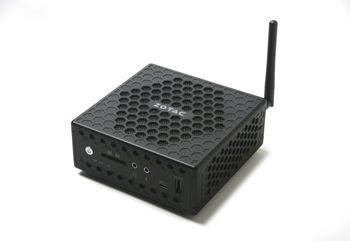 "Mini PC (Barebone) ZOTAC ZBOX-CI327NANO-BE (Celeron® Quad Core N3450, 1.1-2.2GHz, 2xDDR3L SODIMM, 1x2.5"" SATA, Intel HDG 500, 2xUSB 2.0, 2xUSB 3.0, 1xUSB 3.1 (type-C), 2xGigaLAN, WiFi(802.11ac) /BT4.0, VGA, HDMI, DP, CR, VESA Mount)"