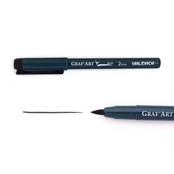 Капиллярная ручка Малевичъ Graf'Art, кисть размер L