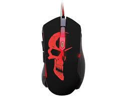 Игровая мышь Qumo Axe, оптическая, 1200-2400 dpi, 6 кнопок, Soft Touch, 7-цветная подсветка, USB