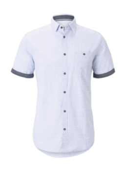 Рубашка TOM TAILOR Светло голубой