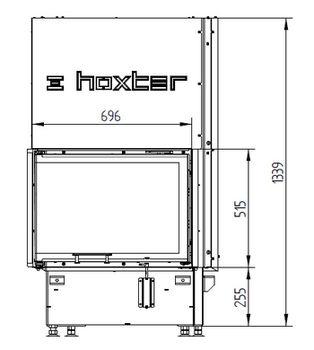 Каминная топка - HOXTER ECKA 67/45/51 Lh/Rh