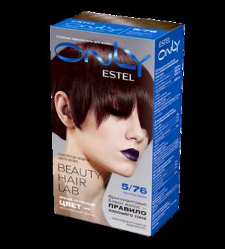 Краска для волос,ESTEL Only, 100 мл., 5/76 - Светлый шатен коричнево-фиолетовый