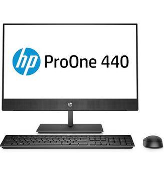 """All-in-One PC - 23.8"""" HP ProOne 440 G4 FullHD IPS +W10 Pro, Intel® Core® i3-8100T 3,1 GHz, 4GB DDR4 RAM, 1TB HDD, DVD-RW, CR, Intel® UHD 630 Graphics, FullHD webcam, Fixed Tilt Stand, Wi-Fi/BT5, GigaLAN, 120W PSU, Win10 Pro, USB KB/MS, Black"""