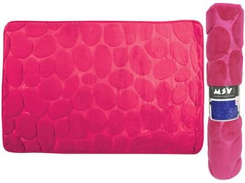 Covoras pentru baie 50X80cm Pebble roz, microfibra