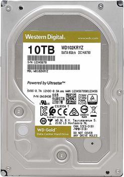 """3.5"""" HDD 10.0TB-SATA-256MB Western Digital """"Gold Enterprise Class (WD102KRYZ)"""""""