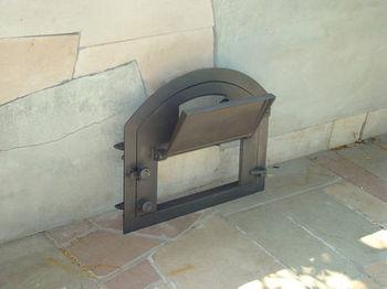 купить Дверца чугунная со стеклом правая PIZZA 4 в Кишинёве