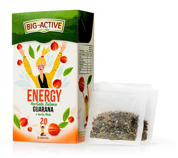 Чай зеленый Big Active Energy with Guarana & Yerba Mate, 20  шт