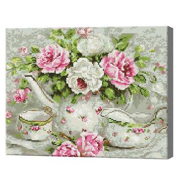 Чаепитие, 40x50 см, алмазная мозаика Артукул: QA203440