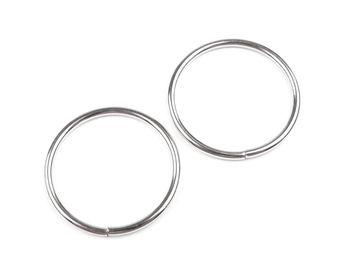 Inel metalic, Ø30 mm, argintiu