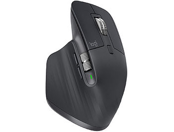Logitech MX Master 3 Graphite Wireless Mouse, 2.4GHz Wireless+Bluetooth, Darkfield high precision, USB Unifying Receiver, Rechargeable Li-Po (500 mAh) battery, 910-005694 (mouse fara fir/беспроводная мышь)