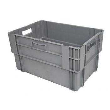 купить Ящик пластиковый 600X400X320 мм, серый в Кишинёве