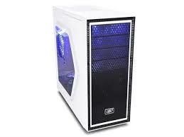 Корпус ATX Deepcool TESSERACT SW-WH, без блока питания, 2x120 мм, синий светодиод, боковое окно, USB3.0, белый