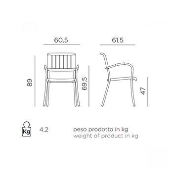 Кресло Nardi MUSA TORTORA vern. tortora 61059.10.000 (Кресло для сада и террасы)