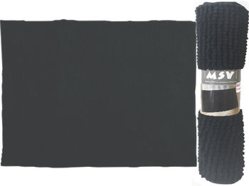 Коврик для ванной комнаты 40X60cm Chenille черный, микрофиб