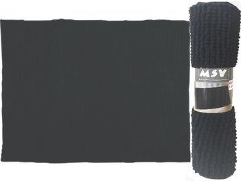 Covoras pentru baie 40X60cm Chenille negru, microfibra