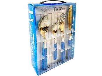 Set de tacimuri Pinti Velvet 24buc, albastru