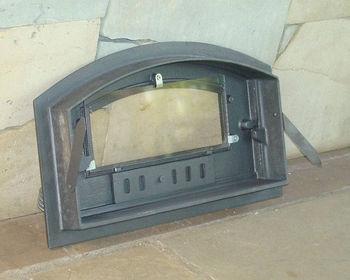 купить Дверца чугунная со стеклом левая DCH3 в Кишинёве