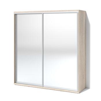 Шкаф купе 2000 2 зеркала, Дуб сонома