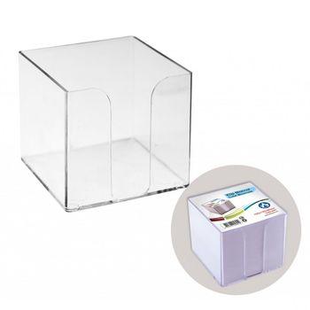 Подставка для бумаги 90x90x90 прозрачная