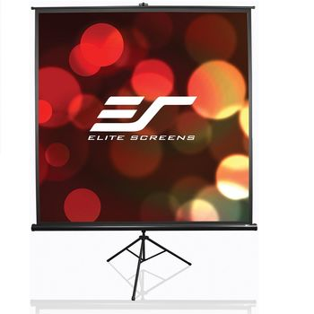"Elite Screens 113""(1:1) 203.2x203.2cm Tripod Series Pull Up, Black"